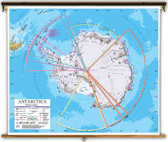 Universal Map Advanced Antarctica Political Classroom Map On Spring Roller
