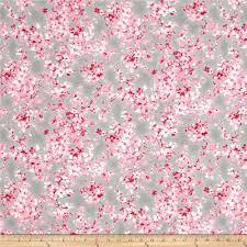 moda sakura watercolor petals ash from fabricdotcom from moda