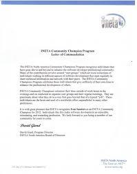 Letter Of Commendation 4theluvofsharepoint U2013 Ivan Sanders Ineta Community Champion