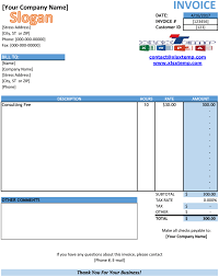 Invoice Template Excel Free Free Service Invoice Template Excel Pdf