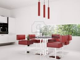 Red Dining Room Table Red Leather Dining Chairs And Table
