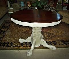 Round Pedestal Table Faux Painting Furniture