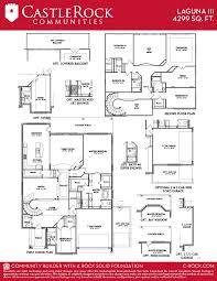 castle rock floor plans laguna iii gold home plan by castlerock communities in build on