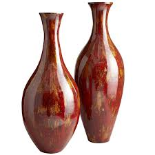 Wicker Floor Vase Red U0026 Gold Lacquered Bamboo Floor Vases Pier 1 Imports
