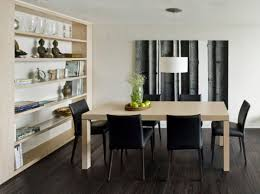 minimalist small dining room wall mounted black wooden dining