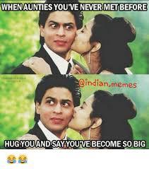 Indian Meme Generator - whenaunties you ve never met before shahrukh khanxo indian memes