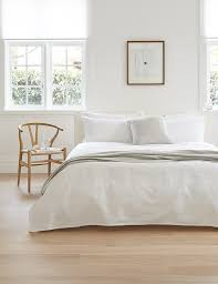 Scandinavian Bedroom White Scandinavian Bedroom Design With White Fabrics Color And A