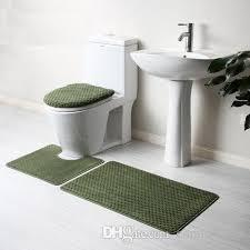 solid color bathroom rug set toilet cover foot mat floor mat anti