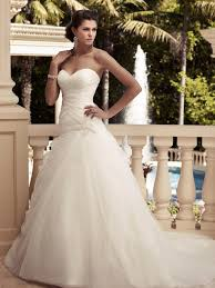 sweetheart fit and flare casablanca bridal gown 2109