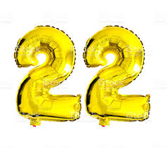 foil balloons number 22 written with foil balloons stock photo more pictures