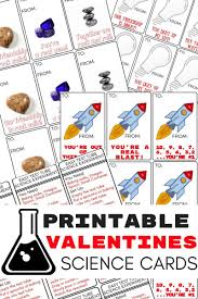 kids valentines cards printable science valentines cards for kids s day