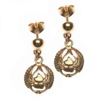 18k gold earrings scarab wings 18k gold earrings collection egypt7000