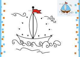 dot coloring pages dot to dot coloring pages boat