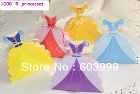 princess candy bags 20 x wedding fairy princess dress gown favour box princess favor