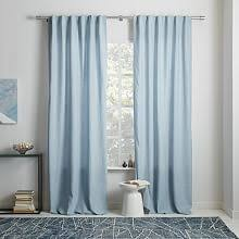 Silver And Blue Curtains Blackout Drapes West Elm