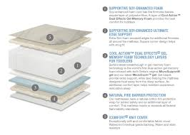 Soy Crib Mattress Serta Icomfort Harmony Deluxe Firm Foam Crib And Toddler