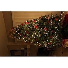 pack of 12 glitter poinsettia tree