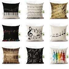 aliexpress com buy 18 u0027 u0027 cotton linen music notes throw pillow