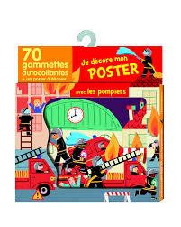 seau a champagne casque pompier les pompiers 70 gommettes poster