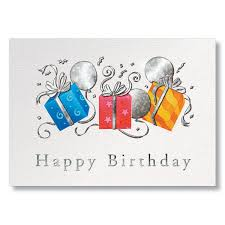 business birthday cards business birthday postcards trio of gifts business birthday cards
