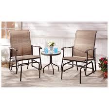 castlecreek 3 piece outdoor glider chair set 625234 patio