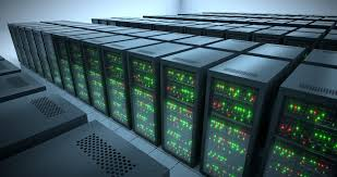 data center servers seamlessly looping animation of rack servers in data center