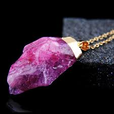 crystal quartz stone necklace images 18k gold plated rough natural stone amethyst crystal druzy jpeg