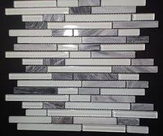 Kitchen Backsplash Glass Tile Light Gray 2x12 Hand Painted Subway Glass Tile Kitchen For
