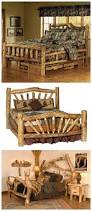 how to build a diy rustic log bed diy tag crafty pinterest