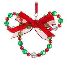 your wdw store disney ornament mickey icon beaded wreath