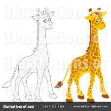 giraffe clipart 1135383 illustration by alex bannykh