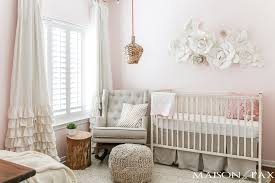 Modern Nursery Decor Blush Nursery With Neutral Textures Maison De Pax