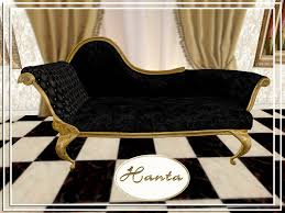 Antique Chaise Lounge Second Life Marketplace Antique Chaise Lounge Black Couple