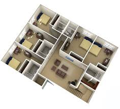 Apartment Layout by Campus Village Communities Ann Arbor Mi Student Housing