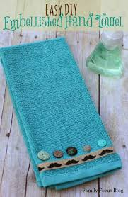 Aqua Towels Bathroom How To Make Embellished Hand Towels Hometalk