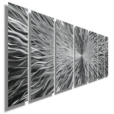 metal home decorating accents silver contemporary metal wall art abstract home decor accent