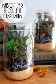 mason jar terrarium with succulents consumer crafts