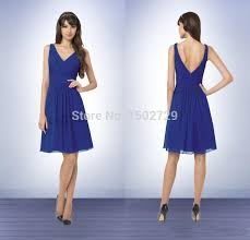 cheap royal blue bridesmaid dresses bill levkoff cheap royal blue bridesmaid dresses v neck knee