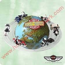 2003 hallmark around the world harley davidson ornament at hooked