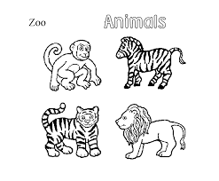 zoo animal coloring pages print coloringstar