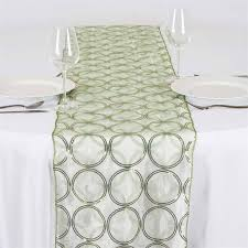 Designs For Runners Sequin Circle Designs Table Runners 108 X 12 Reseda Efavormart