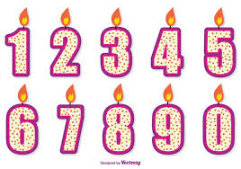 number birthday candles birthday number candle set free vector stock