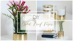 diy gold leaf vase youtube