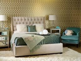 wallpaper decorating ideas bedroom gold and teal bedroom gold and