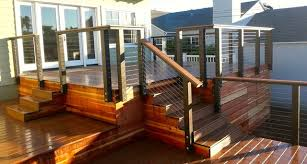 trex and cable rail beach style patio san diego by san