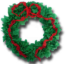 paper crafts for children easy crepe paper wreath