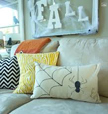 outdoor halloween pillows pottery barn inspired halloween decor these two projects are a