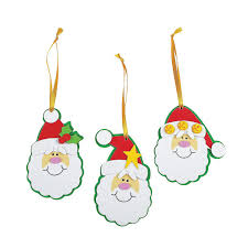 foam simple santa ornament craft kit crafts activity
