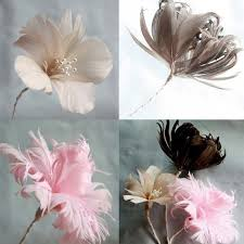 feather flower how to make a diy wedding favor fabric flower and feather flower