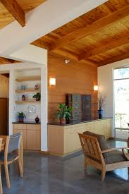 knotty pine walls family room contemporary with built in storage